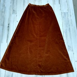 Vintage 70s Union Label Velvet Highwaist Max Skirt